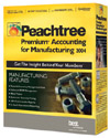 (Click to Enlarge) Peachtree Premium Accounting for Manufacturing 2004