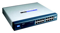 (Click to Enlarge) CISCO SMALL BUSINESS [csc-sr216] - >> 16-PORT 10/100 UNMANAGED SWITC [csc-sr216]