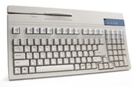 (Click to Enlarge) UNITECH AMERICA [k2726] - >> 104 KEYS - BEIGE - PC/PS2/AT MSR12 3 - BARCODE - (ITEM ALSO KNOWN AS : UNI-K2726) [k2726]