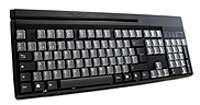 (Click to Enlarge) UNITECH [kp3700-t3pbe] - UNITECH - 104KEY KEYBOARD - 95 PROGRAMABLE KEYS - 88 RELEGENDABLE KEYS - 9 PIN BARCODE PORT - WINDOWS PROGRAMMING SOFTWARE - 5 KEY REPLACEMENT COVER [kp3700-t3pbe]