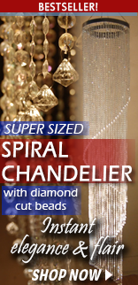 Diamond Cut Beaded Chandelier