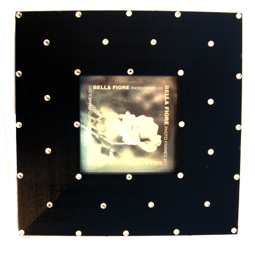 Black Jewelled Small Frame by Bella Fiore