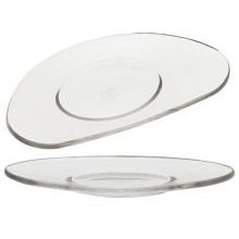 Rosenthal Free Spirit Clear Oval Side Plate Large
