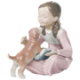 Figurines of Girls with Pets
