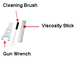 HVLP Pack (Wrench,Viscosity Stick, Cleaning Brush)