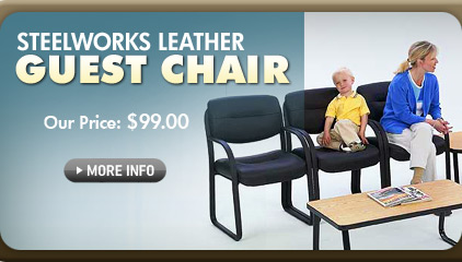 Steelworks Leather Guest Chair