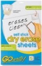 "GoWrite Self Stick Dry Erase Sheets-Letter Size -  8.5"" x 11"""