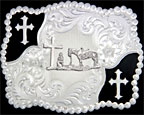 Christian Cowboy Figure Buckle