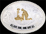 War Veteran Belt Buckle