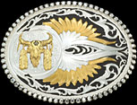 Buffalo Skull Belt Buckle by Montana Silversmiths