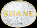Custom Name Belt Buckle by Montana Silversmiths