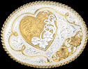 Montana Silversmiths Heart Belt Buckle