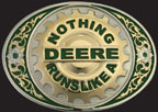 Nothing Runs Like A Deere Belt Buckle