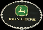 Black John Deere Belt Buckle