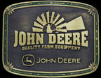 John Deere Windmill Belt Buckle