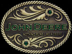 John Deere Brass Belt Buckle