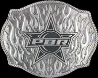 PBR Flames Buckle