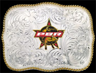 German Silver PBR Buckle