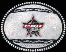 Black Barbed Wire PBR Belt Buckle
