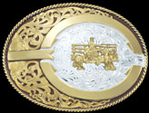 Colored Belt Buckle 2103B