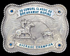 Antiqued Trophy Buckle 3613RTS  |  Montana Silversmiths