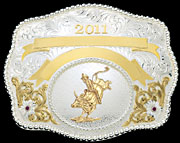 Award Buckle 60874 by Montana Silversmiths