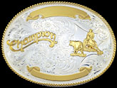 Custom Champion Buckle by Montana Silversmiths 943
