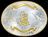 Trophy Buckle 2132 -- Montana Silversmiths