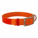 buy discount  Orange Reflexite Nylon Dee-End Dog Collar - #1674