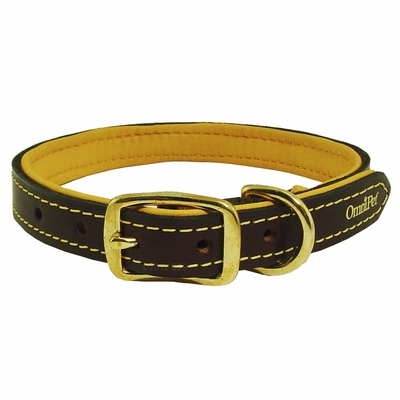 3/4 in. Deer Tan Latigo Leather Dog Collar by OmniPet