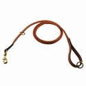 buy discount  6 ft. Round Leather Snap Lead by K-9 Komfort
