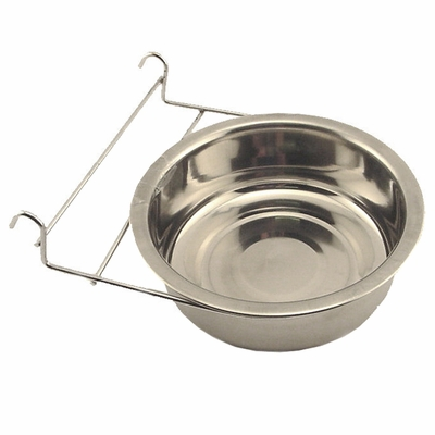 Medium Stainless Steel Kennel Cup with Hanger -- approx 60 oz.
