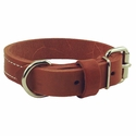 buy discount  1 in. Gun Dog Deluxe Leather Standard Dog Collar - #RTEN1