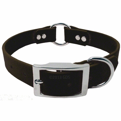 1 in. Mendota DuraSoft Black Hunt Dog Center-Ring Collar