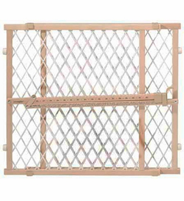 Evenflo Position & Lock Gate Wood / White Mesh - G202