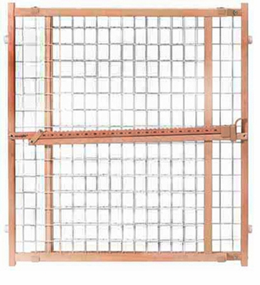 Evenflo Position & Lock Plus Gate, Wood / White Mesh
