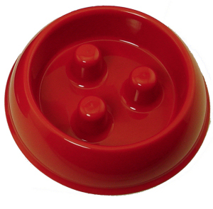 SMALL RED PLASTIC Brake-Fast Bowl