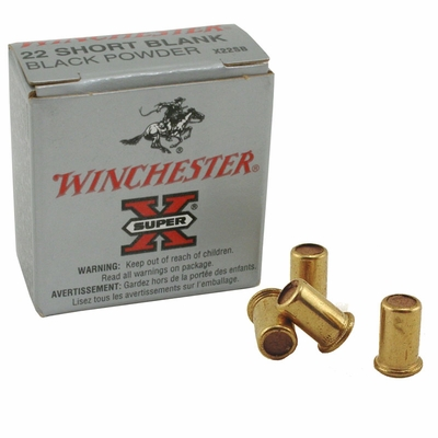 Short Black Powder Blanks Winchester .22 Caliber