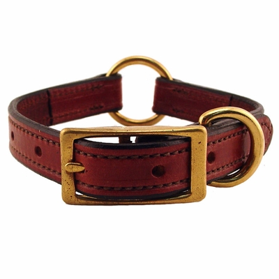 3/4 in. K-9 Komfort Deluxe Leather Center Ring Puppy / Small Breed Collar -- 12 in.