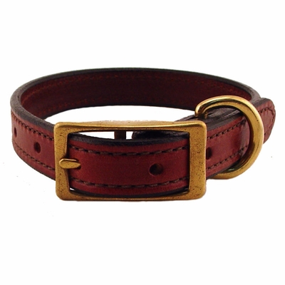 3/4 in. K-9 Komfort Deluxe Leather Standard Puppy / Small Breed Dog Collar
