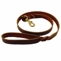 buy discount  Brown 4' Latigo Twist Leash