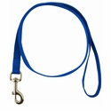 buy discount  BLUE LEASH Single-Ply Nylon Dog Leash - 3/4 in. x 6 ft. (2166)