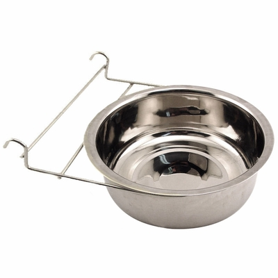 Large Stainless Steel Kennel Cup with Hanger -- approx 88 oz.