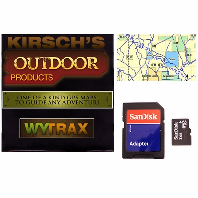 WYTrax Wyoming GPS Sportsman Map for Garmin Alpha / Astro