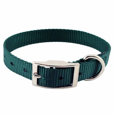 "3/4"" Single Ply Nylon Standard Puppy Dog Collar with FREE Brass ID plate"