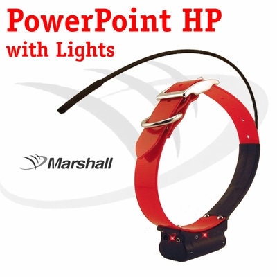 Marshall Radio Telemetry PowerPoint HP Tracking Additional Collar / Extra Transmitter with Lights - RED