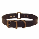 "buy discount  1"" Leather Center Ring Dog Collar by Filson"