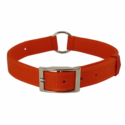 Field-Grade Treated Nylon Center-Ring Safety Dog Collar - #1648