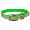 buy discount  Green K-9 Komfort Reflective 3/4 in. Standard Puppy / Small Dog Collar