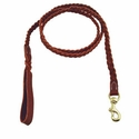 buy discount  K-9 Komfort 4 ft. Braided Leather Snap Lead